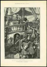 """1888 - Antique Print FINE ART """"For Faith and Freedom"""" Walter Besant   (074)"""
