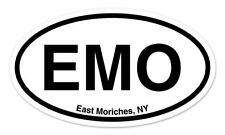 """EMO East Moriches NY Oval car window bumper sticker decal 5"""" x 3"""""""