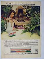 1976 Magazine Advertisement International Coffee Cappuccino Carol Lawrence Ad