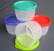 Tupperware Classic Snack Cups with Multicolor lids (4) From USA - SALE!!