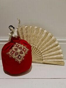 Lovely 1920's Art Deco Style~ Nude Dancing Lady Half Pin Cushion Doll ~Arms Away