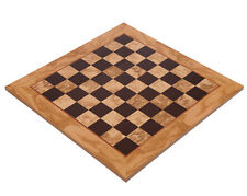 """Manopoulos Olive Wood Chess Board 2"""" Squares - HandMade in Greece- Without Pawns"""