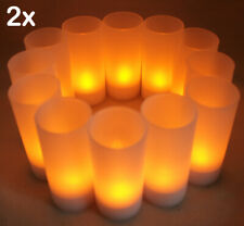 New Set of 24 Rechargeable Electric Tea Light Led Candles with Frosted Votives!