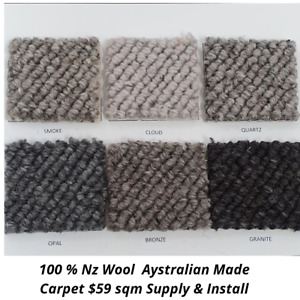 40 /oz100 % Nz Wool Australian Made Carpet $59 supply & install