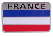 "ALUMINUM France Flag Emblem Sticker 3D Decal For Auto, Car, & Truck 3.15""x2"""