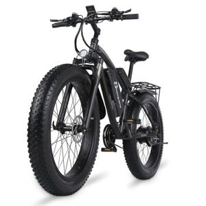 New Special Offer 1000W Mens Mountain Bike 48V17Ah 4.0 Fat Tire Electric Bike