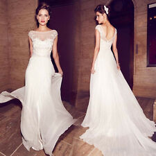 2018 A-line Cap Sleeve Applique wedding dress bridal gown custom Size2-18++++