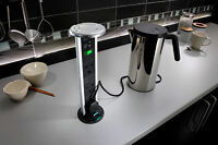 Sensio Power Pod Pop Up Pull Up Kitchen Worktop 3 Power Sockets Plug 2 USB Ports