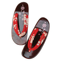 New Japanese Style Woman Clogs Geta Wooden Flip Flops Sakura Sandals Cos Shoes