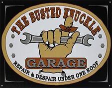 Busted Knuckle Garage Mechanic Vintage Metal Tin Sign