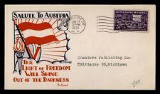 DR WHO 1945 RHINEBECK NY KNAPP WWII PATRIOTIC CACHET  f53194