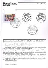 ITALIA 2000 GIORNATA DELLA FILATELIA  BOLLETTINO COMPLETO DI FRANCOBOLLI FDC