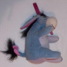 "Disney Winnie The Pooh sitting Eeyore  with hanging loop Soft Toy 6"" high"
