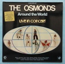 OSMONDS ~ AROUND THE WORLD: LIVE IN CONCERT ~ 1975 UK 17-TRACK 2LP RECORD SET