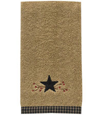 "Country Primitive Star Vine Terry Fingertip Cotton Towel 19"" x 11"" Park Designs"