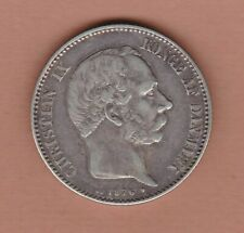 More details for 1876 denmark silver 2 kroner in good very fine condition.