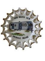 """""""God Bless Our Mobile Home"""" Vintage Decorative Plate Travel Souvenir 7"""""""