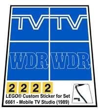 Replica Sticker for Classic Town Traffic set 6661 - Mobile TV Studio (1989)