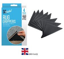 4x Anti Slip RUG GRIPPERS Soft Mat Carpet Anti Curling Rubber Tape Floor Home UK