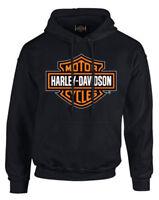 Harley-Davidson Men's Bar & Shield Pullover Fleece Hooded Sweatshirt, Black