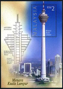 Malaysia 598 s/s, MNH. Kuala Lumpur Tower, 1996