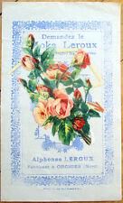 1900 Chicoree/Moka Advertising w/Victorian Diecut Scrap: Roses/Flowers - 2