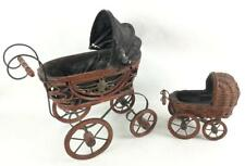 (2) Small Decorative Doll Size Baby Carriages Lot 2320