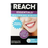 REACH ESSENTIALS* 4pc Set WHITENING STRIPS 2 Treatments DISSOLVING Remove Stains