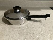 Vintage Seal-O-Matic 18-8 Stainless Steel 1 1/2 Quart Sauce Pot with Lid USA