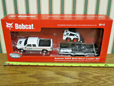 Bobcat S205 Skid Loader With Chevy Silverado & Trailer Set By DCP 1/50th Scale