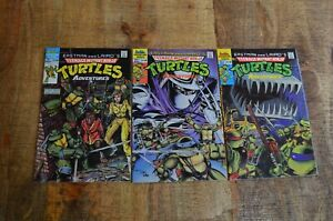 TMNT Adventures 1 2 1st & 2nd Print (Archie, 1988) VF Lot of 3 Comic Books