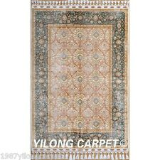 Yilong 3.5'x5' Persian Handmade Silk Rugs Home Carpets Hand Knotted Online 1759