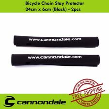 Cannondale Bike Bicycle Chain Stay Protector 24cm x 6cm (Black) - 2pcs