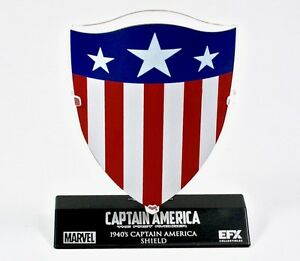 BRAND NEW EFX CAPTAIN AMERICA 1940'S DIE CAST SHIELD 1/6 SCALE EXCLUSIVE