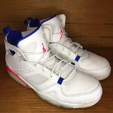 Mens Size 9 Air Jordan Flight Club 91 Ultramarine White Blue Pink Sneakers Shoes