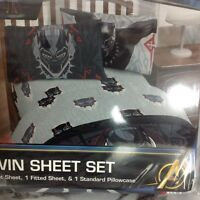 Black Panther Twin Sheet Set Fitted Flat Standard Pillowcase Marvel Avengers New