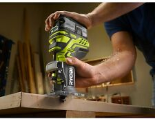 Ryobi ONE Plus Trim Router 18v Cordless Adjustable Fixed Base Woodworking Tools