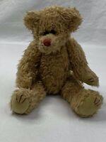 "Vintage 1993 TY Light Brown Jointed Teddy Bear 13"" Plush stuffed Animal"