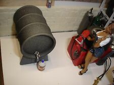 1/18  Oil Drum w/rack, w/spigot & one gallon can -for your shop/garage/diorama