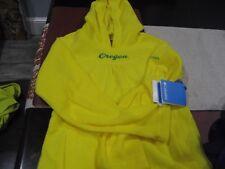 Girls Youth Columbia Oregon Ducks Fleece Jacket Top M Medium Yellow