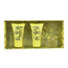 VERSACE YELLOW DIAMOND MINI SET PERFUME FOR WOMEN SPLASH 0.17 oz + B/L + S/G