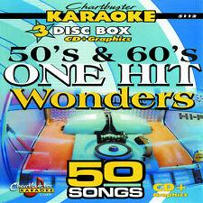 Karaoke CD+G Chartbuster 3 Disc set 5112 50' & 60' One Hits Wonders w/Song List