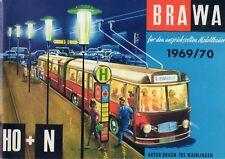 catalogo BRAWA 1969-70 Trolley-Bus HO-N Seilscwebebahn HO-N Zillerthal HOe D  aa