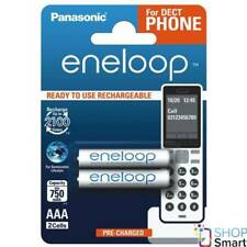 2 PANASONIC ENELOOP RECHARGEABLE AAA HR03 BATTERIES DECT PHONE 1.2V 750mAh NEW