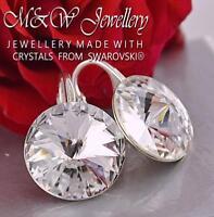 925 Sterling Silver Earrings RIVOLI Crystal F 14mm - Crystals From Swarovski®