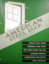 American Steel Buck Corporation Door Catalog AIR CELL ASBESTOS Insulation 1950's