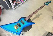 Aria Pro II ZZB Custom Explorer model bass Lightblue & Gold