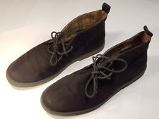 H&M Mens Suede Black Desert Lace Up Ankle Shoes Size 8.5 Pre-worn - Good Cond.