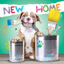 New Home House Cute Puppy 3D Fluff Handmade Greeting Card Animal Dog Lovers