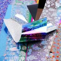 50Pcs Holographic Nail Foil Starry Art Transfer Sticker Lace Flower DIY Decals